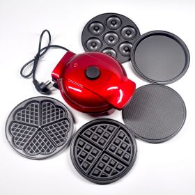 Mai's Kitchen MZ0007 5 in1 Multi-functional Egg-roll / Donut / Panini / Heart-shape Waffle Maker