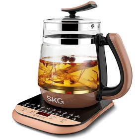 SKG 8056C Multi-Functional 1.8 Liter Intelligent High Borosilicate Glass herb Tea Kettle