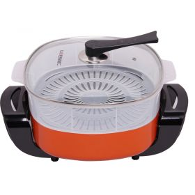 Liven DHG-40FK Korean 5.5L Multi-functional Non-stick Electric Skillet / Steamer / Hot Pot