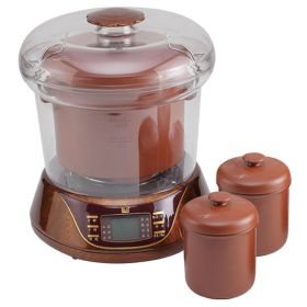 YILI DZ08A25 2.5 Liter Smart 3 in 1 Purple Clay (Zisha) Water-isolated Multi-stew Slow Cooker