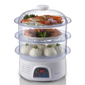 Bear DZG-305 Multi-functional 8 Liter Multiple Tier Programmable Timer Food Steamer
