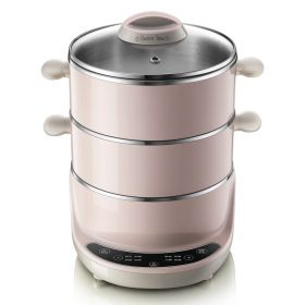 Bear DZG-D40A1 Multi-functional 5.2 Liter 3-tier Stainless Steel Electric Food Steamer with Glass Lid