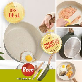 Japanese Style 1468 APEO & PFOA-Free Stone-Derived Non-Stick Maifan Coating Frying Pan With Bakelite Handle (Universal Heat Sources Including Induction)