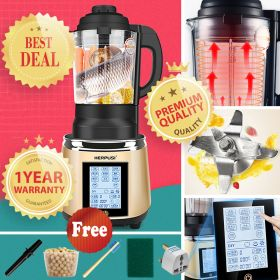 Herpusi HD-175 High-speed 8-point Blade BPA-free High Borosilicate Glass Blender with Heating System
