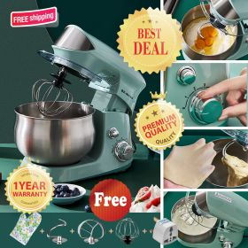 NINTAUS JZCS-60J Trendy Automatic Electric Stand Mixer, Imitative Artisan Dough Mixer, 600W 6-Speed 3.5L Stainless Steel Mixing Bowl Electric Mixer (with Beater, Whisk, Dough Hook)