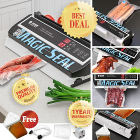Magic Seal MS175 Vacuum Sealer Machine with 30CM Built-in cutter, Fresh Food-Sealer For All type of Bag For Food Preservation and Non-Food Sealing |Manual & Auto Modes