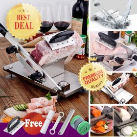 GOSSOO ST208B Manual Stainless Steel Frozen Meat Vegetable Cheese Food Gravity Slicer