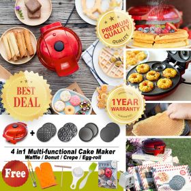 Mai's Kitchen MZ0003 4 in1 Multi-functional Waffle / Egg-roll / Donut / Panini Maker