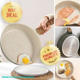 Japanese Style 1468 APEO & PFOA-Free Stone-Derived Non-Stick Maifan Coating Frying Pan With Bakelite Handle (Suitable For All Stove Including Induction)