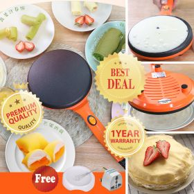 LIVEN BC-411A 26cm Pancakes, Blintz, Chapati, Tortillas, Electric Non-Stick Coating Surface Popiah / Crepe Wrap Maker