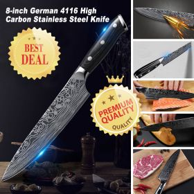 TIMHOME C015 Professional Chef Knife German 4116 High Carbon Stainless Steel Knife with Ergonomic Handle, Sharp and Professional Vegetable Knife