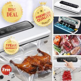 HM KY89 Vacuum Sealer Machine, Automatic Vacuum Packing Machine, Compact Food Sealer Vacuum For Food Preservation, Dry & Moist Food Modes and Upgrade Suction Power