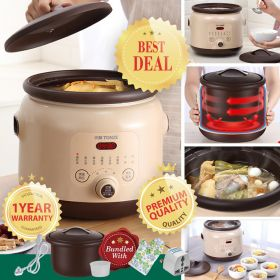 TONZE DGD40-40EZWD 4.0 Liter Smart Purple Clay (Zisha) Multi-stew Slow Cooker, Soup maker