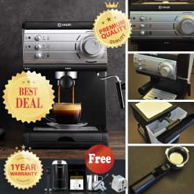 DONLIM DL-KF6001 20 Bar Italian Invensys Pump Semi Automatic Espresso Machine