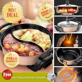 Liven HG-301AY Korean 5.0L Multi-functional Non-stick Electric Steamboat / Hot Pot with Divider