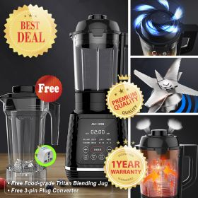 AUX HX-PB9260 High-speed 8-point Blade BPA-free Dual Jug Blender with Heating System