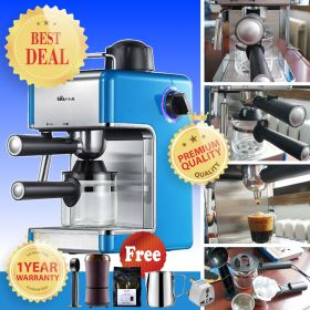 Bear KFJ-202AA Mini 5 Bar Italian Pump Stainless Steel Semi Automatic Espresso and Cappuccino Machine