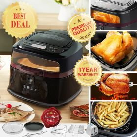 Tredy HD8 Multi-purpose Digital 8 Liter Air Fryer and 360° Rotisserie Oven