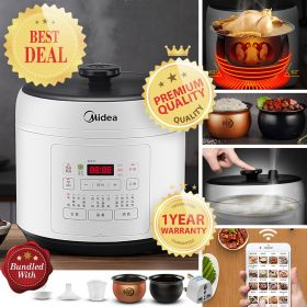 Midea MY-QS50A8 Multi-functional 5 Liter Dual Spherical Insert Smart Pressure Cooker with Cloud Recipe