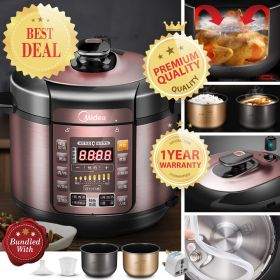 Midea MY-YL50Simple101 5L Multi-functional Dual Insert Programmable Timer Pressure Cooker