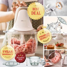 Bear QSJ-A03D2 2L Glass Food Processor Electric Multipurpose Food Chopper, Blender and Mincer