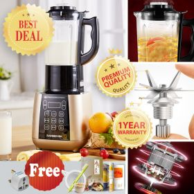 Ranbem 775 High-speed 8-point Blade BPA-free High Borosilicate Glass Blender with Heating System