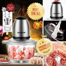 SANDE SD-JR36 1.2L Hi-speed 200W Multi-purpose Food Processor Combo Set, Meat Grinder, and Blender