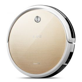 ILIFE X451 7.6cm Ultra Slim Self-recharge Vacuum / Mopping Cleaning Robot with 300ml Detachable Reservoir (Beige)