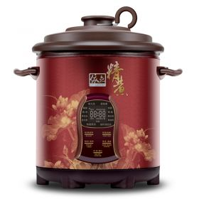 YILI J480B Upgraded 2nd generation 4.8 Liter Purple Clay (Zisha) Insert Programmable Timer Multi-stew Slow Cooker