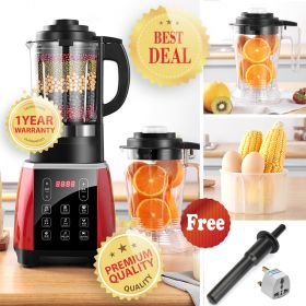AIBOKE MXC-1808 German Smart High-speed 8-point Blade Professional Heating Blender with 1.75ML BPA-Free High Boron Glass Pitcher