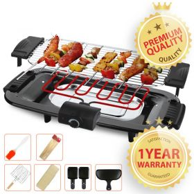 HENGBO SC-120R Electric Smokeless Indoor Barbecue Grill, Raclette Grill, Table Grill with Adjustable Temperature Control