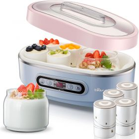 Bear SNJ-A15K1 Multi-functional Smart Yogurt Maker with Dual Borosilicate Glass & 8 Ceramic Insert