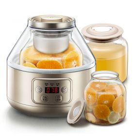 Bear SNJ-A20T1 Smart Dual Insert Borosilicate Glass Rice Wine-Enzyme & Yogurt Maker