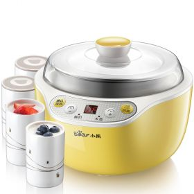 Bear SNJ-B10K1 1L Smart 304 Stainless Steel Insert Yogurt Maker with 4 Ceramic Jars