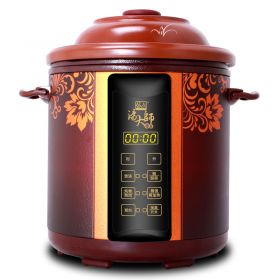 YILI TB63B48 Upgraded 4.8 Liter Purple Clay (Zisha) Insert Programmable Timer Multi-stew Slow Cooker