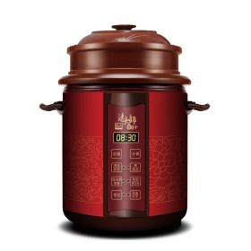 YILI TB63C48 3-tier 4.8 Liter Purple Clay (Zisha) Insert Programmable Timer Multi-stew Slow Cooker