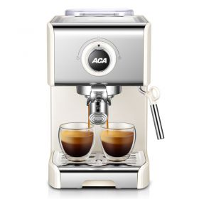 ACA AC-ES12A 20-Bar CEME Italian Pump 1250W Semi-Automatic Espresso and Cappuccino Machine, Coffee Maker for Home Barista Brewing, Powerful Milk Frothing, Double Shot/Single Shot Function