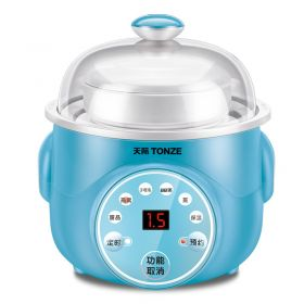 Tonze DGD10-10KWG Smart Mini 1.0 Liter Natural Ceramic Insert Multi-stew Slow Cooker