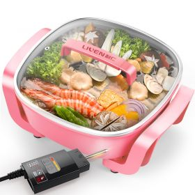 Liven DHG-T2600F Korean 3.7L Multi-functional Non-stick Electric Skillet / Steamer / Hot Pot