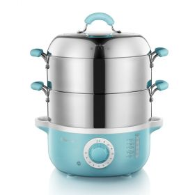 Bear DZG-240GA Multi-functional 4 Liter Dual-tier Stainless Steel Electric Food Steamer with Glass Lid