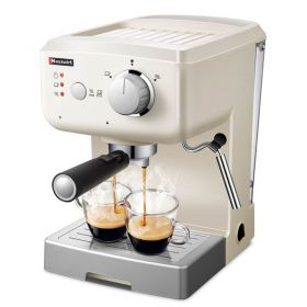 Hauswirt HC71 25-Second Quick Coffee 15-Bar Thermoblock Italian Pump Semi-Automatic Espresso and Cappuccino Machine, Coffee Maker