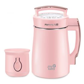 Joyoung® DJ13B-D08D Pink Multi-functional Super Fine Grinding Concentrated Soy Milk Maker with Baby Puree Feature