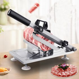 HM QPJ-01 Manual Stainless Steel Frozen Meat Slicer, Vegetable Cheese Food Gravity Slicer, Beef Mutton Roll Meat Cleaver, Meat Cutter