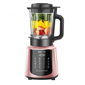 AUX HX-PB965 High-speed 301 Stainless Steel 8-point Blade 1.65L BPA-Free High Boron Glass Blender with Heating System