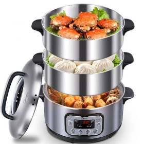 Midea MZ-ZG28Power501 Multi-functional Large Capacity Stainless Steel 3-tier Programmable Timer Food Steamer