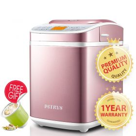 Petrus PE8880 Multi-functional Dual Auto Yeast, Fruits & Nuts Dispenser Bread Maker with Ice-cream Function