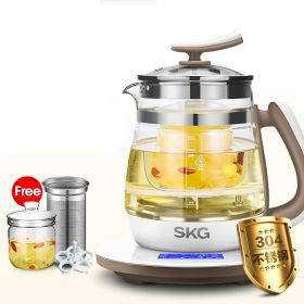 SKG 8088S Multi-functional 1.8 Liter Intelligent High Borosilicate Glass herb Tea Kettle with Stainless Steel Infuser