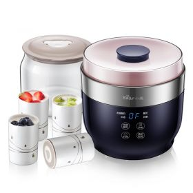 Bear SNJ-C10T1 Mediterranean Santorini Style 1L Smart Yogurt Maker with 2 Glass + 4 Ceramic Insert