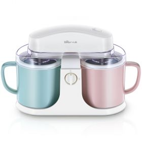 Bear BQL-A10E1 Macaron-colored Ice Cream Maker, Mini Ice Cream Machine Mug Design Double Cup Structure