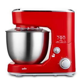 STELANG SC-209B Food Stand Mixer, 600W 4L Electric Tilt-Head Dough Mixer with Stainless Steel Bowl, Dough Hook, Mixing Beater, Whisk, and Splash Guard